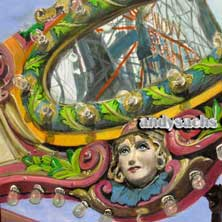 Coney-Go-Round Coney Island Merry-Go-Round Brooklyn NY nostalgia original painting and prints by Andy Sachs